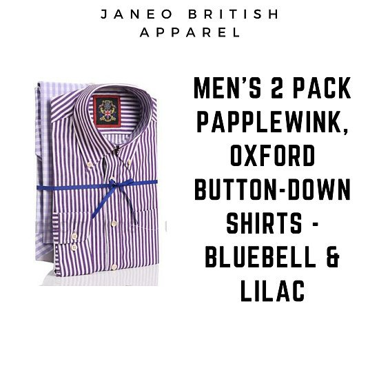 Men's Papplewick Shirts 2 Pack, Oxford Button Down.