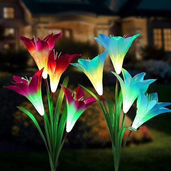 2 Solar Lily Lights