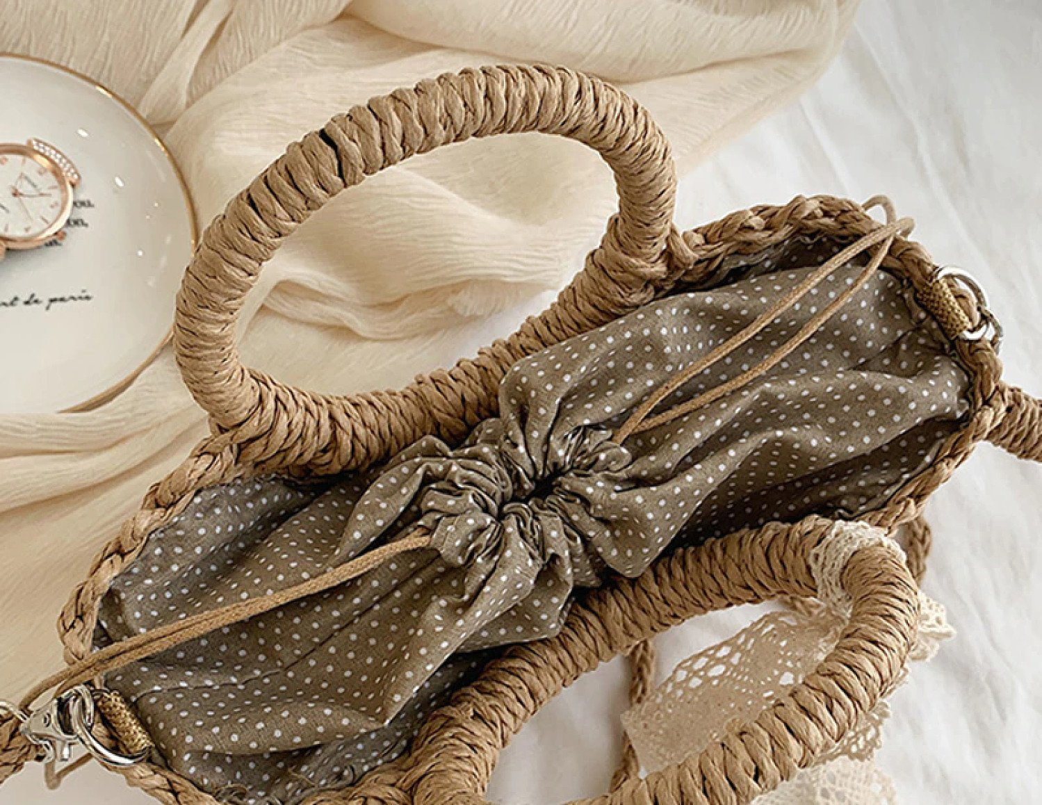 Hand Woven Straw Bag