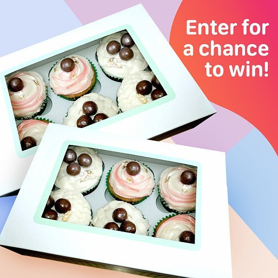 Win 2 boxes of assorted Cup Cakes