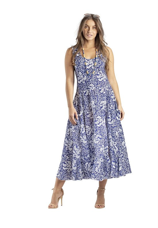 "Loose dress ""Blue Tendrils,"