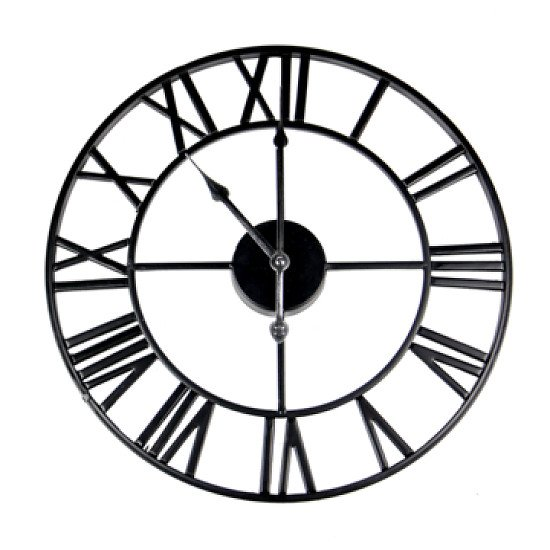 Roman Numeral Wall Clock Black (free p&p)