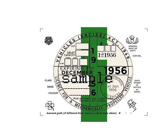 Replica Tax Disc ANY YEAR AND MONTH FROM 1924 TO 2012