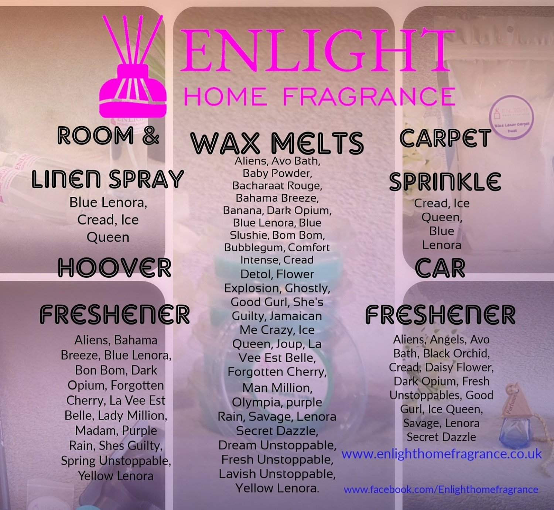 Enlight Home Fragrance Scent list %10 off online store