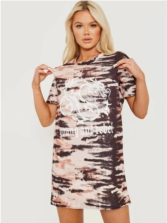 Young and Rebel Dragon Tie Dye Dress