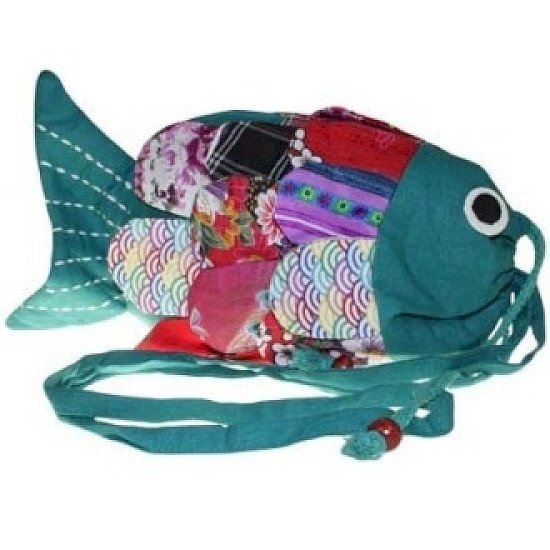 Recycled Handmade Fish Bag
