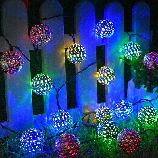 LED Solar Garden String Lights Hanging-Colourful