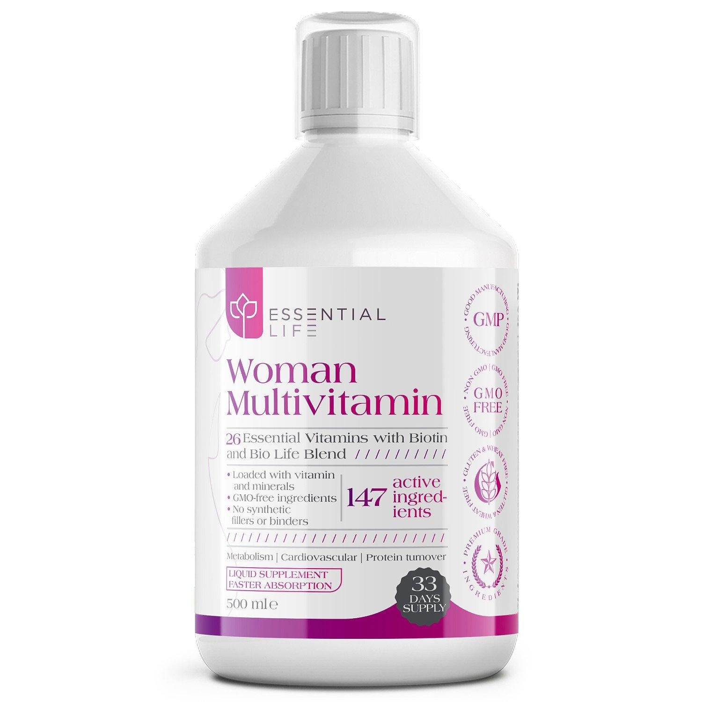 Essential Life Women's Multivitamins – Liquid Multivitamin