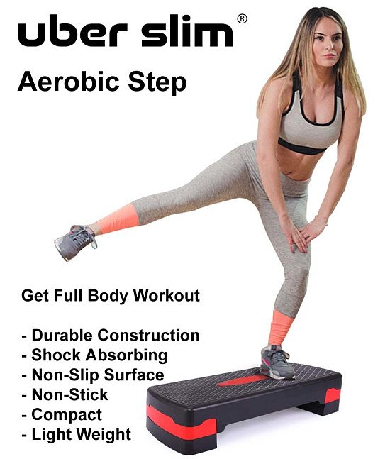 Get Fit This Summer! Fitness Aerobic Step with Risers For £19.99! Instead of £49.99. Saving 60%!