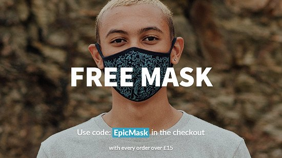 Free mask with every order over £15