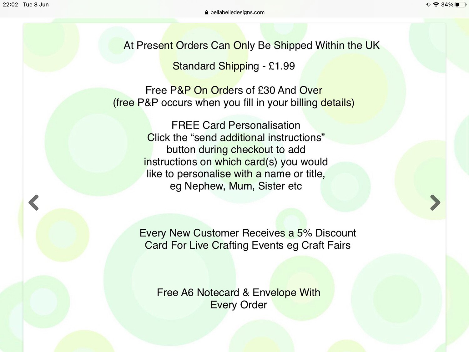Free card personalisation