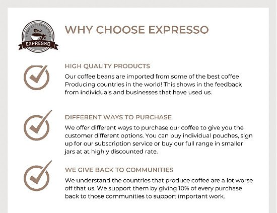 Why choose Expresso?