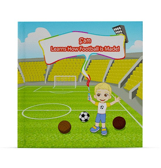personalised childrens book - Learns How Football Is Made
