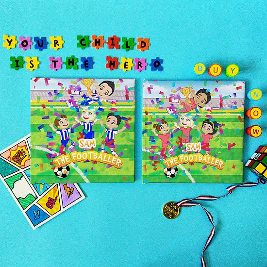 personalised childrens books - The Footballer Who Lifts the Trophy - For Football Fans
