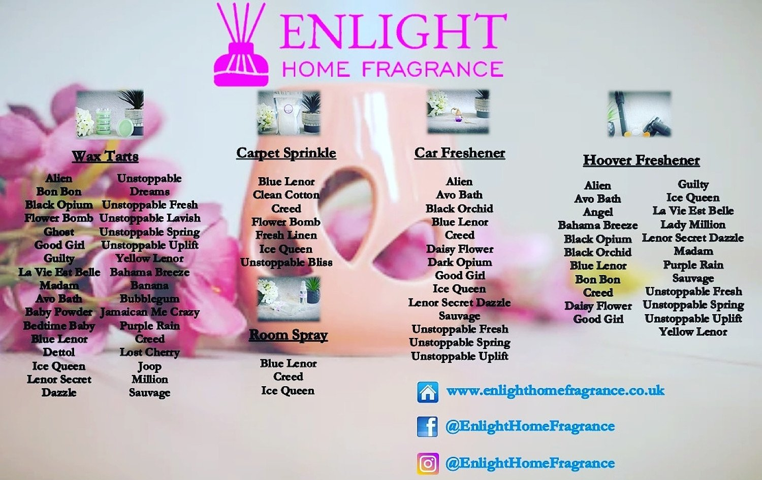 10% discount available at Enlight Home Fragrance