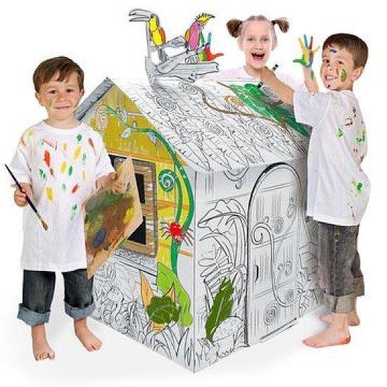 3D CARDBOARD PLAYHOUSE  MY LITTLE JUNGLE HOUSE