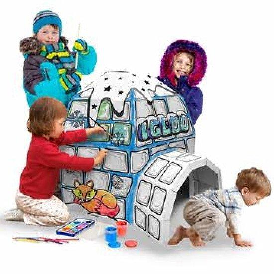 3D CARDBOARD PLAYHOUSE  IGLOO