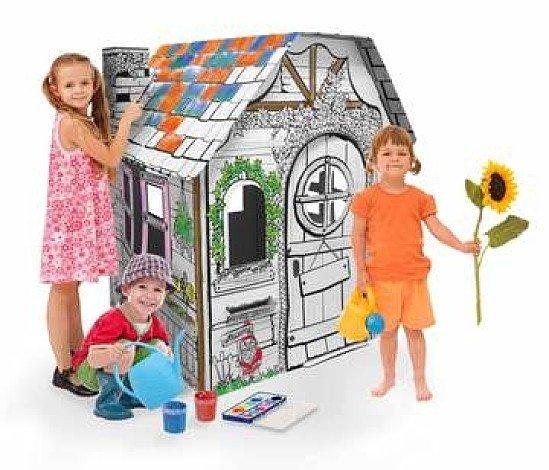 3D CARDBOARD PLAYHOUSE  MY GARDEN HOUSE