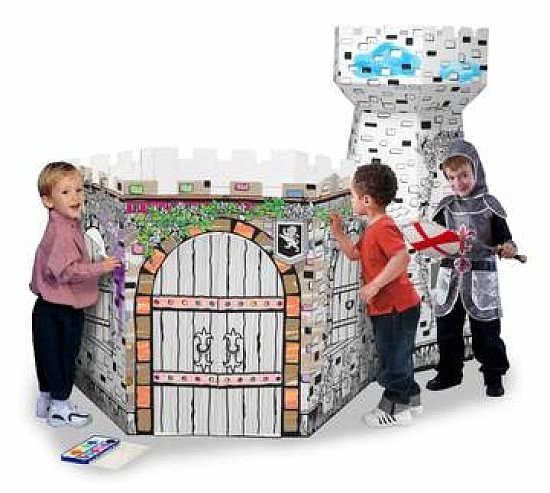 3D CARDBOARD PLAYHOUSE  CASTLE TOWER