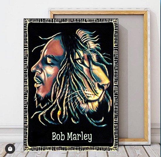 Bob Marley Canvas Print wall hanging ready to display