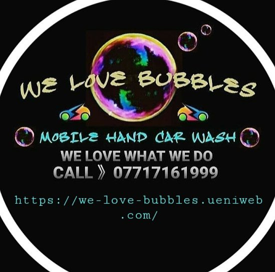 WE LOVE BUBBLES MOBILE CAR WASH SERVICE. WE LOVE WHAT WE DO
