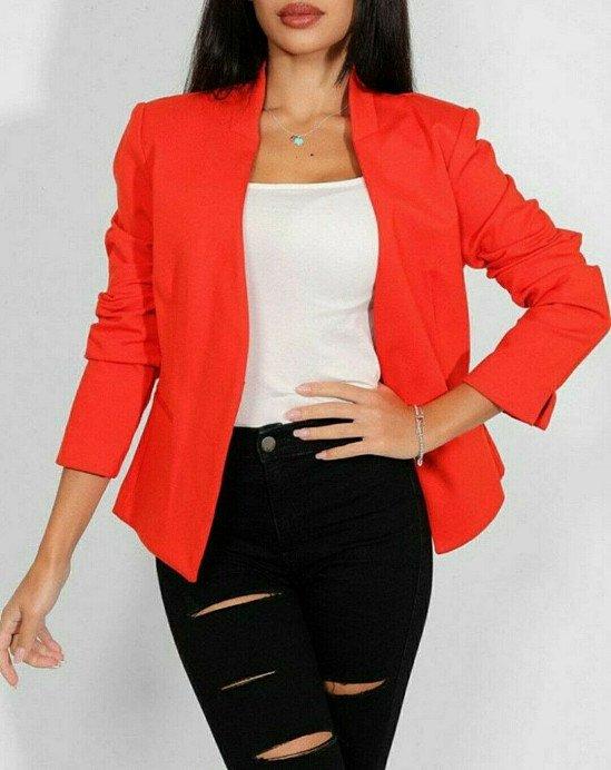 £7 Ex Store Ladies Red Blazer