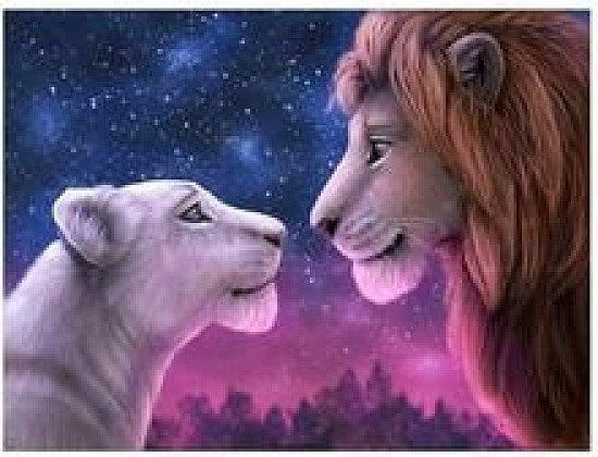 lions in love 5 d diamand art