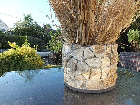 beautiful ,natural ,cotswold stone flower pots.