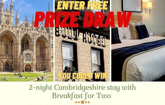 Win  2 Day Stay in 5 Star Cambridgeshir Hotel