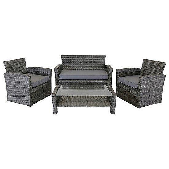 Charles Bentley 4 Seater Rattan Furniture Set Grey - £500.00!