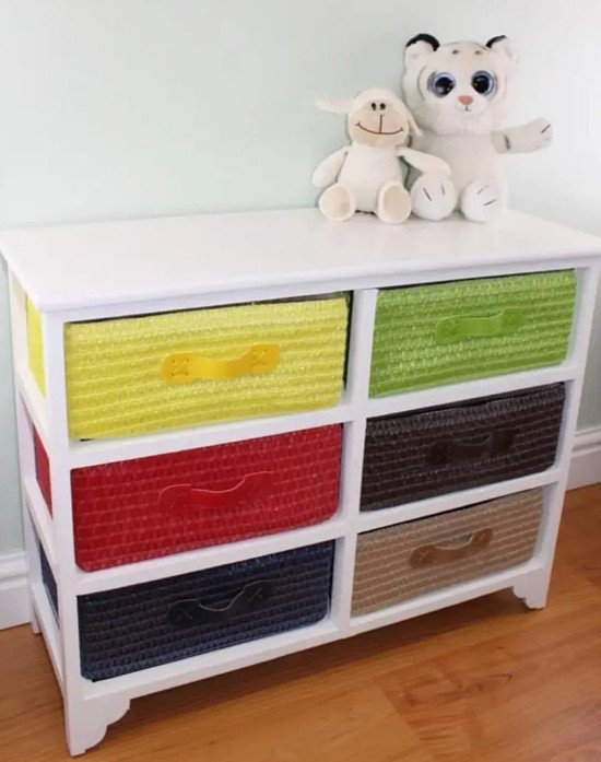 **SAVE £10 NOW ONLY £69.99 FREE DELIVERY**Multi Coloured 6 Drawer Storage Unit with Baskets