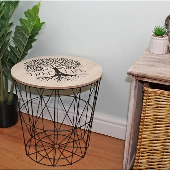 ♡♡ FREE DELIVERY ♡♡Tree of Life Geometric Side Table 40x40cm ONLY £29.99