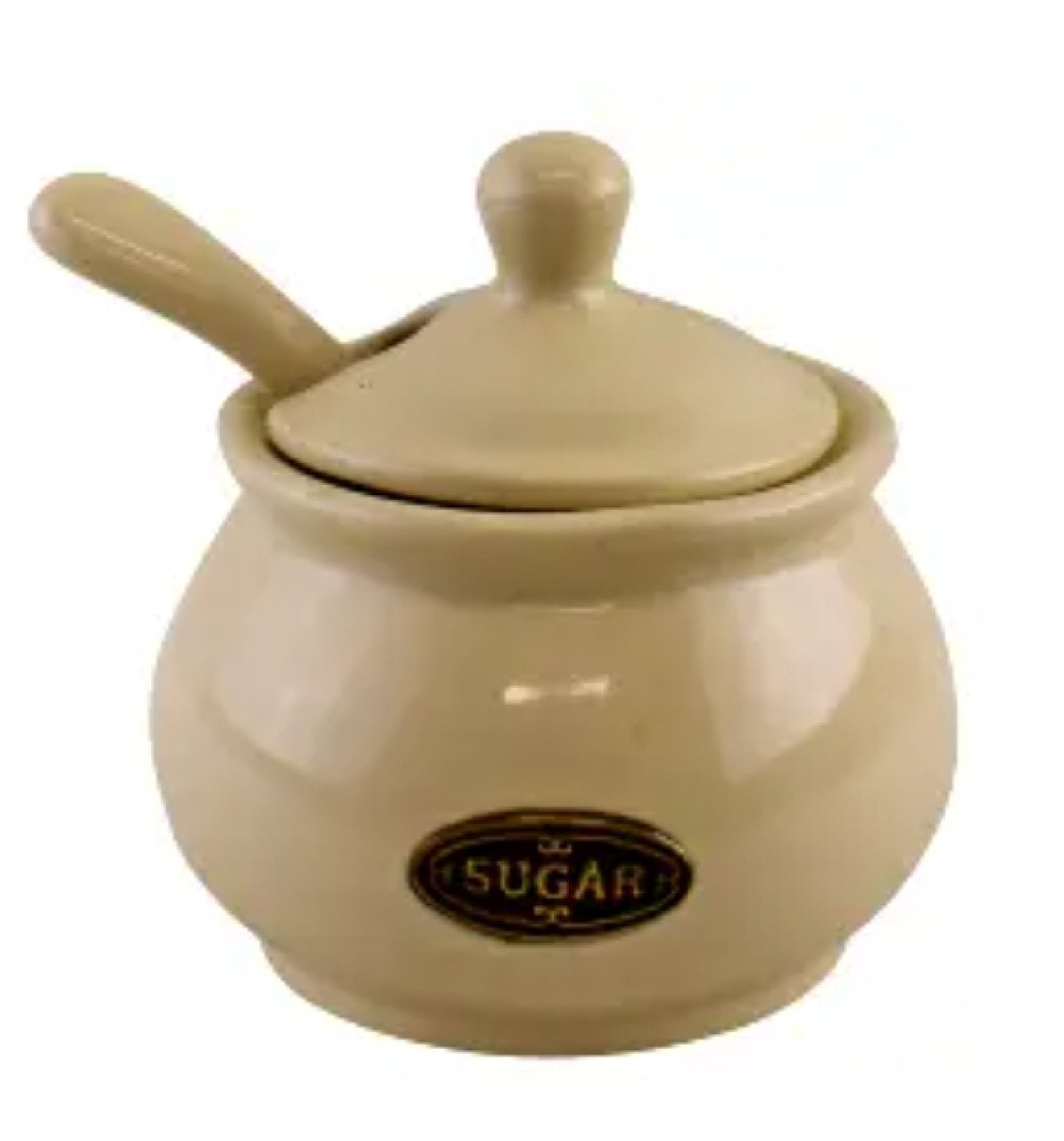 Country Cottage Cream Ceramic Teapot, Sugar Bowl With Lid & Spoon and Cream Jug. Worth £50