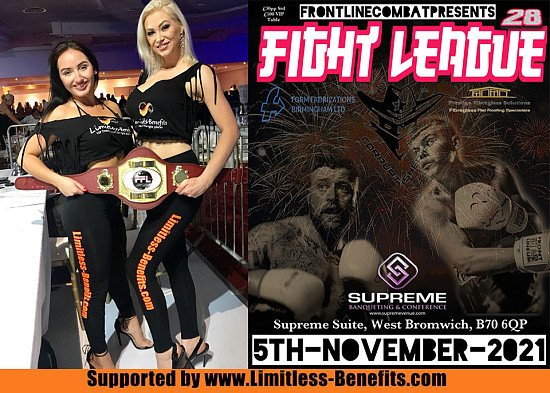 Win 2 free tickets to FightLeague 28 championship boxing with LimitlessBenefits RingGirls Birmingham