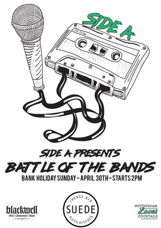 Today's the day! Show some support for our first battle of the bands event at Suede. Come on down.