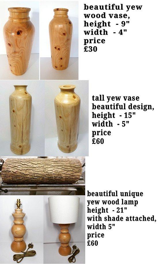 Handmade wooden vases