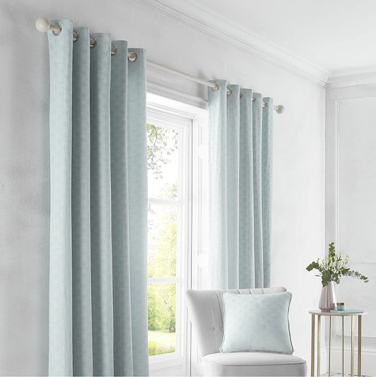 GUARANTEED  TO SAVE £££'s Tiffany - Jacquard Eyelet Curtains in 3 Beautiful Colours by D&D Design