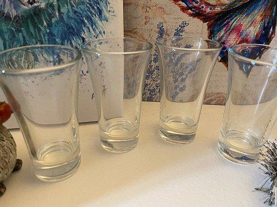 PICK A DESIGN - Design Shot glasses Hand Etched 6 glasses