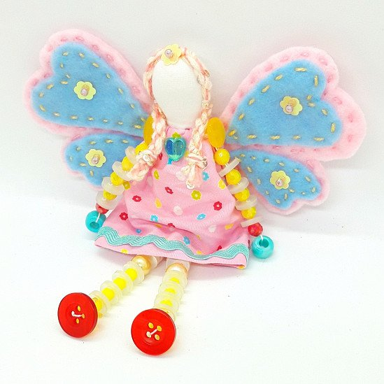 WINGS OF LOVE Fairy Button Doll - 20% discount available