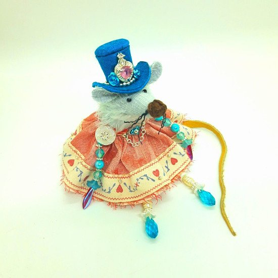 ALL MY LOVE MOUSE BUTTON DOLL -  20% discount available