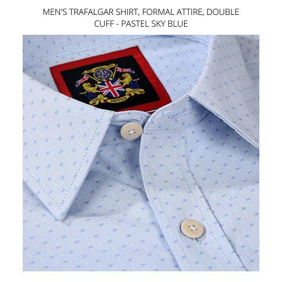 Men's Shirt's, The Trafalgar Sky Pastel Blue.