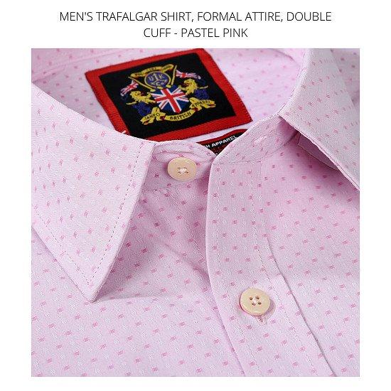 Men's Shirt's, The Trafalgar Pastel Pink