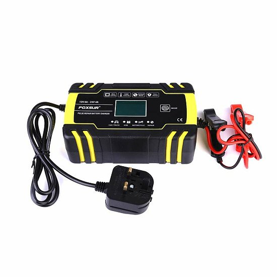 12 24v Automatic Electronic Intelligent Smart Fast Battery Charger Car Motorbike Repair Charger AGM