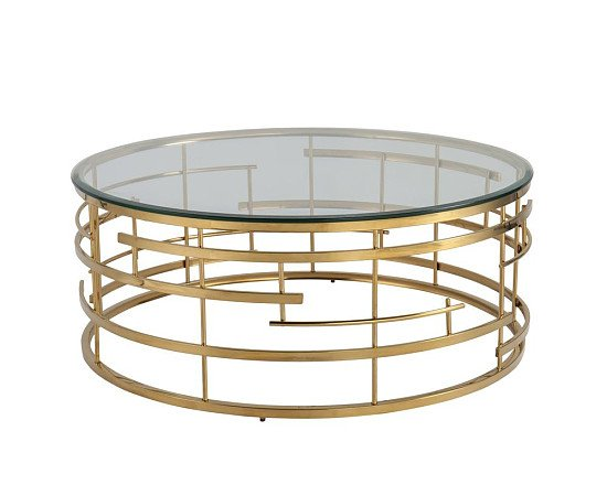 SALE - Liang & Eimil Viena Coffee Table Polished Brass Frame | Outlet!