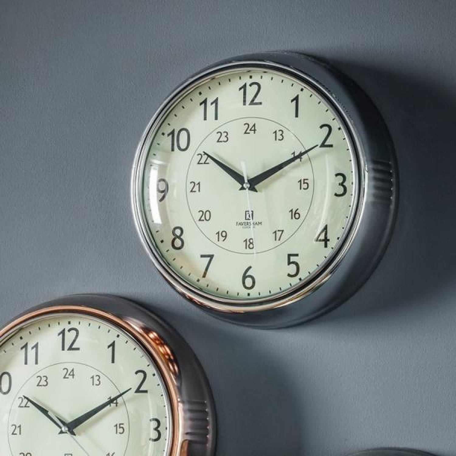SALE - Gallery Direct Temple Clock Chrome | Outlet!