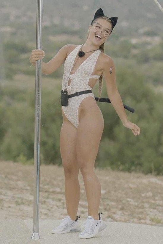 LOVE ISLAND EDIT - White Wear Me Any Way Leopard Print Swimsuit £30.00!