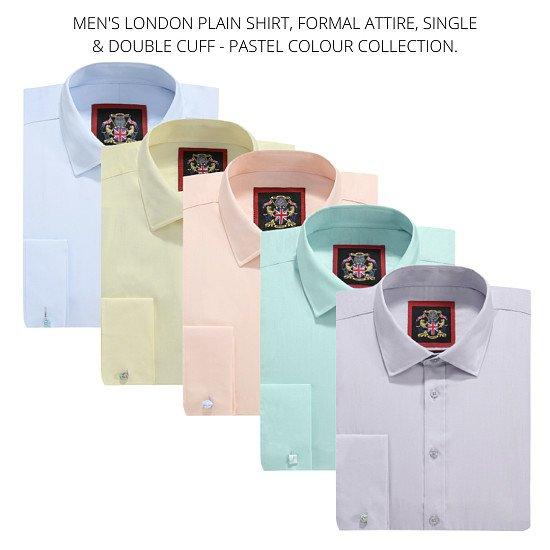 The London Plain Shirt, Pastel Colour Collection.