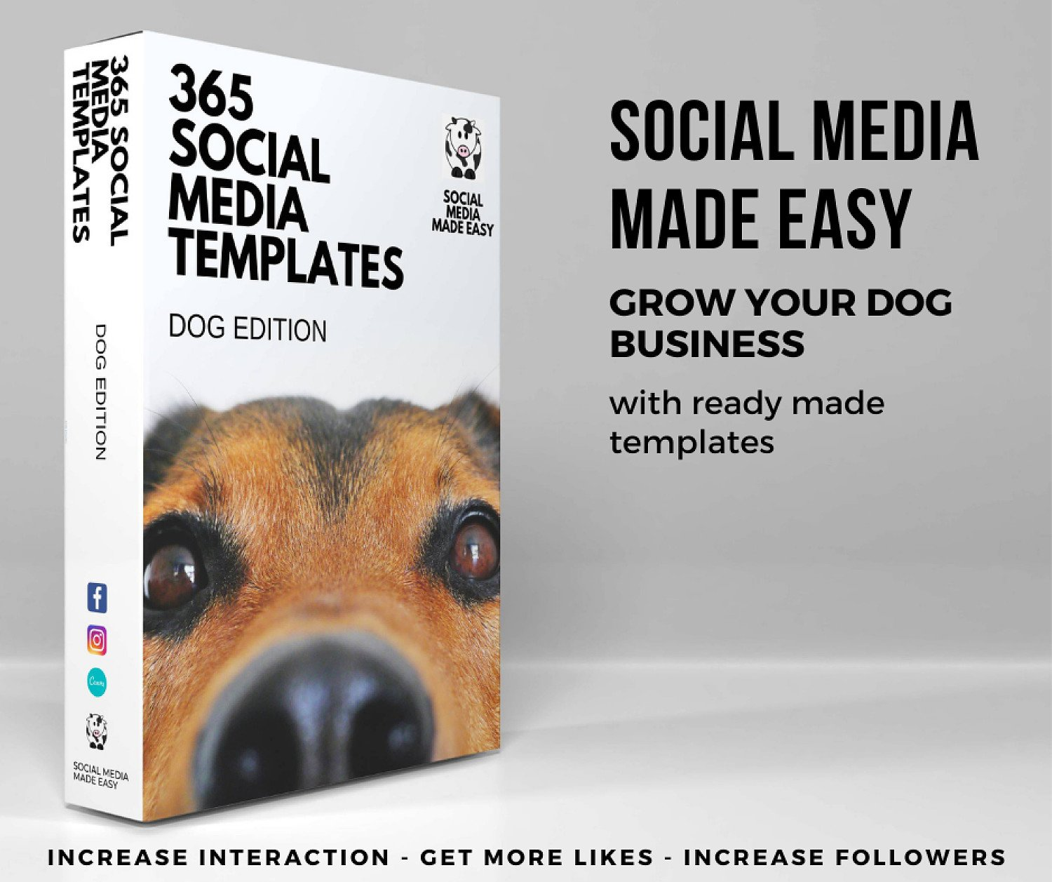 365 Ready Made Social Media Templates for Dog Businesses