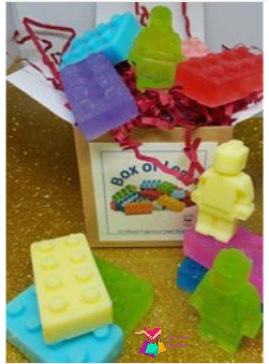 Box of Lego mini soaps x 12.