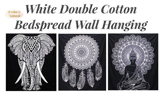 Black & White Double Cotton Bedspread Wall Hanging